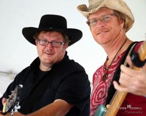 Bill Miles and Glenn Woodell at Mathews Market Days